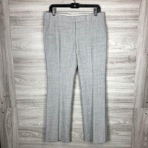Talbots Grey Wide Leg Petite Wool Dress Pants